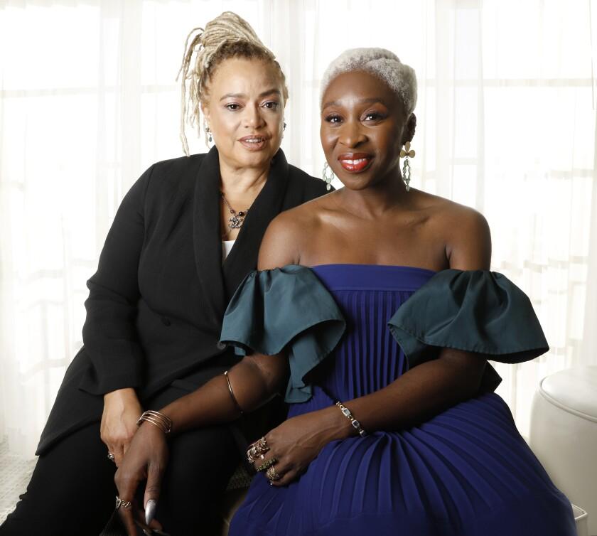 "Kasi Lemmons, left, and Cynthia Erivo of ""Harriet"""