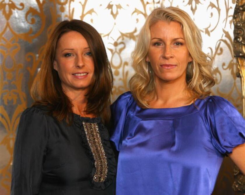 Bananarama's Sara Dallin (right) and Keren Woodward.