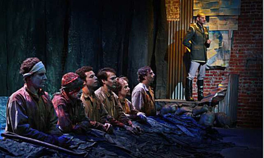 """IRWIN SHAW PLAY """"Bury The Dead"""" is playing through Sept. 13 at Actors' Gang theater."""