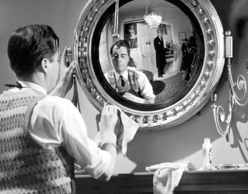 "Dirk Bogarde in the 1963 movie ""The Servant."""