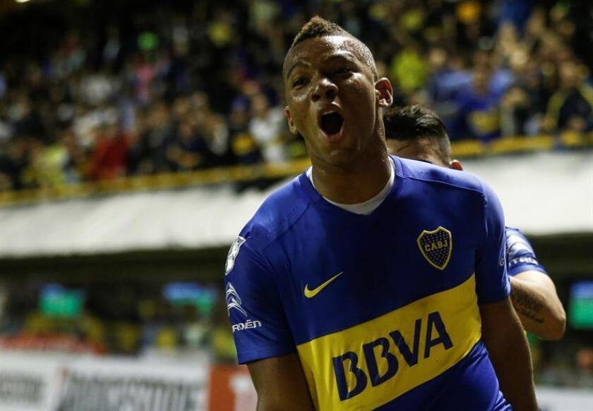 En la imagen, el jugador de Boca Juniors Frank Fabra. EFE/Archivo