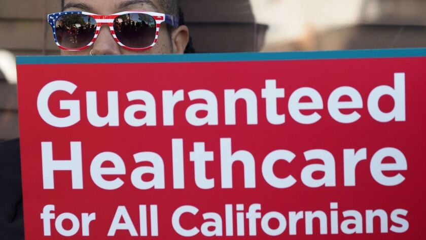 Single-payer healthcare has become a political marker for the top Democratic in the race for California governor, and has emerged as the biggest policy flashpoint in the campaign.