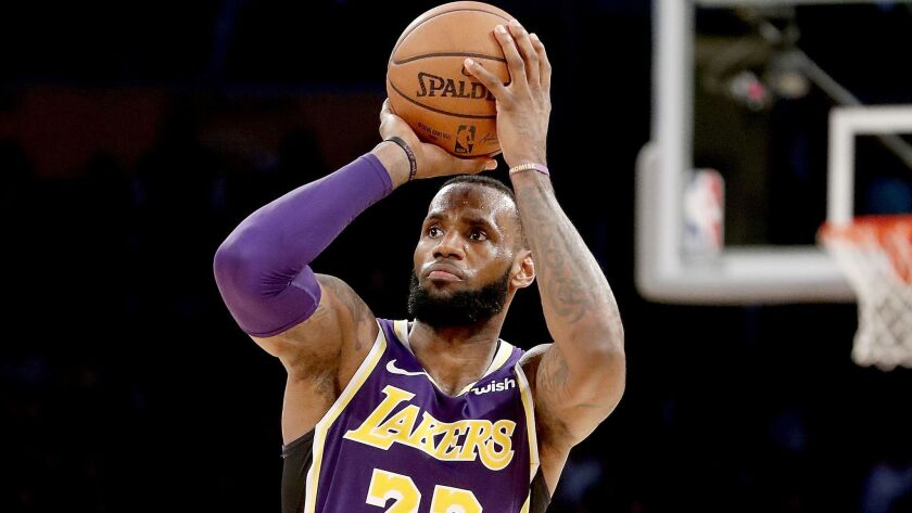 Lakers guard LeBron James