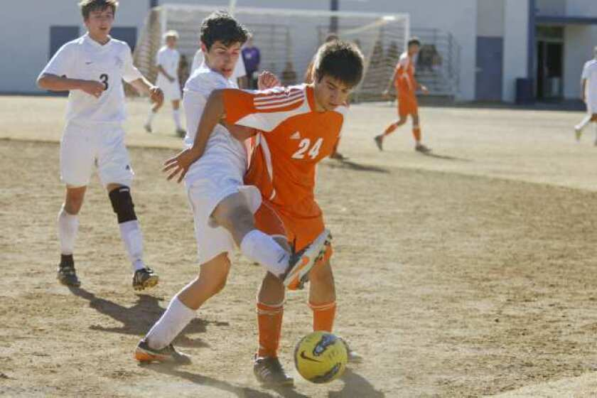 Flintridge Prep boys' soccer blanks Pasadena Poly