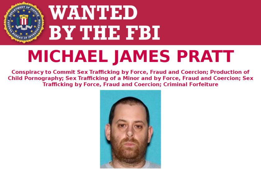 FBI wanted poster for Michael James Pratt