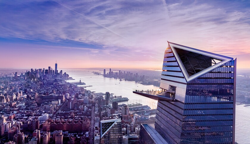 The new Edge observation deck at Hudson Yards in New York City.