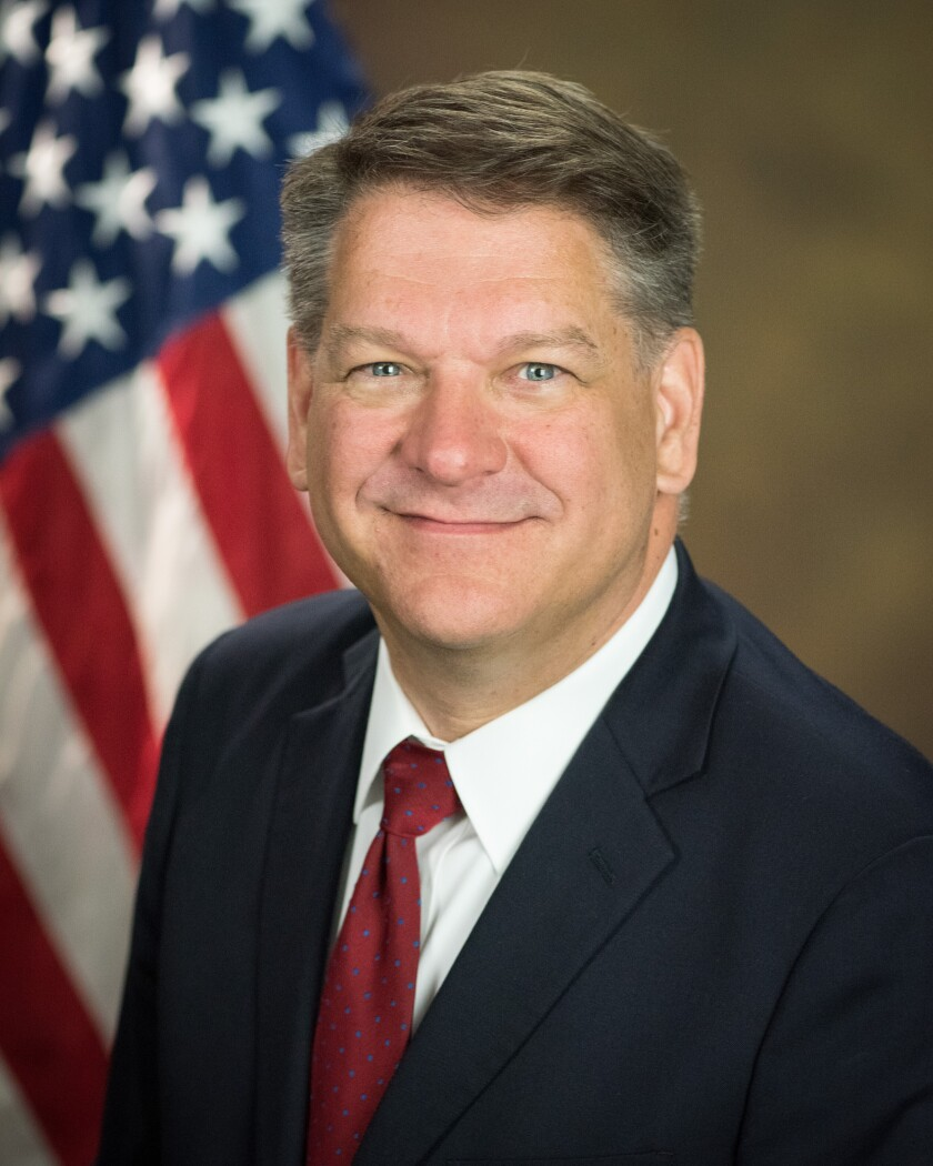 This photo provided by the Department of Justice shows Timothy Shea, currently senior counselor to Attorney General William Barr. Barr on Jan. 30, 2020, nominated Shea, one of his closest advisers, to be the next top prosecutor in the nation's capital, the largest United States attorney's office in the country, which has been historically responsible for some of the most significant and politically sensitive cases the Justice Department brings in the U.S. (Department of Justice via AP)