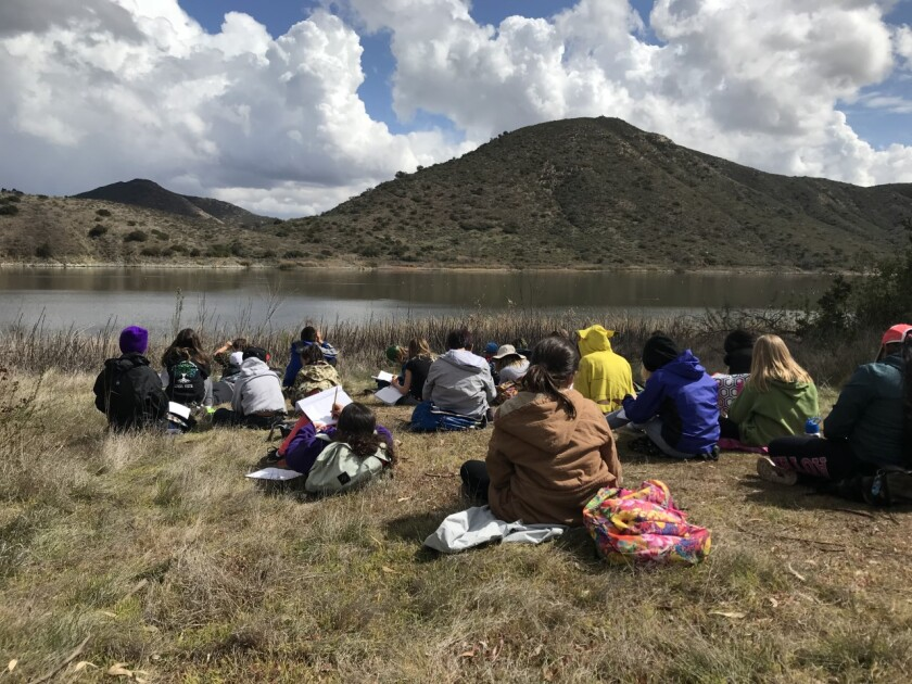 The outdoor-education program focuses on different aspects of the watershed.