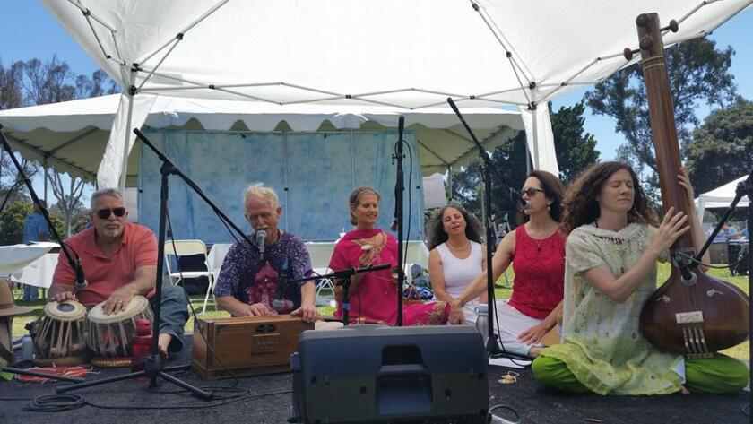Music was a big part of the day celebrating yoga at Balboa Park