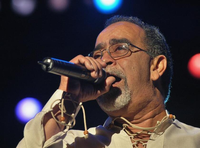 Fotografía de archivo del cantante puertorriqueño Andy Montañez. EFE/Archivo