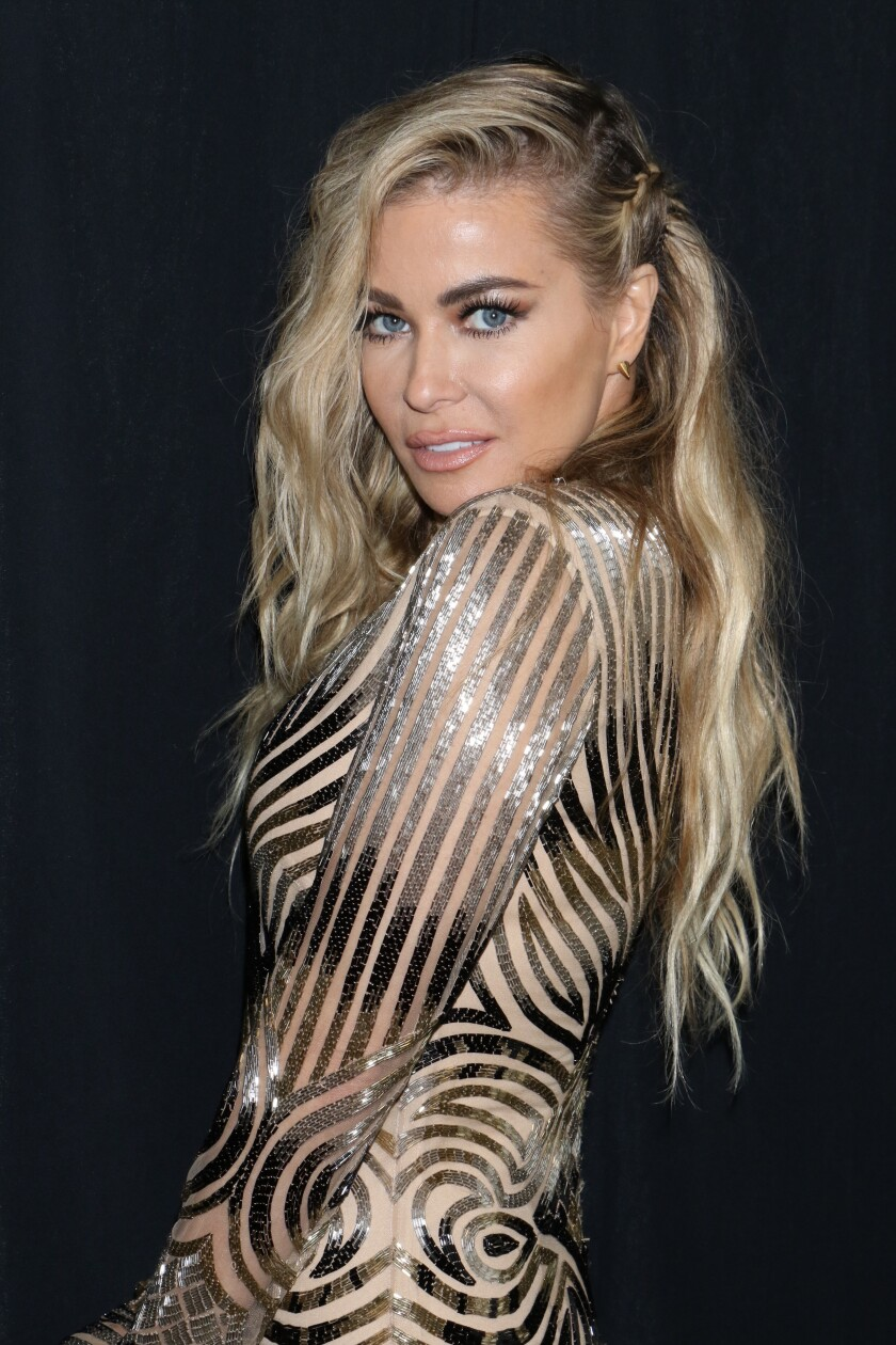 Carmen Electra during New York Fashion Week in 2018.