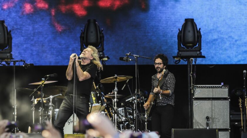 Robert Plant performs during Arroyo Seco Weekend.