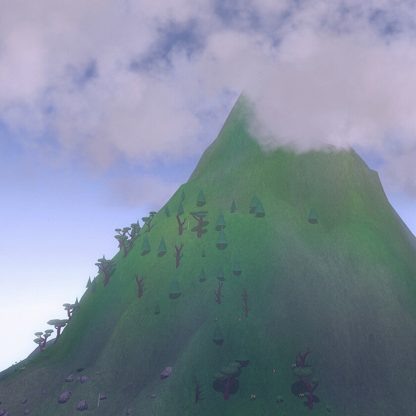 For his first video game, animator David OReilly has created a very ungame-like game that generates unique mountainscapes based on questions about mood.