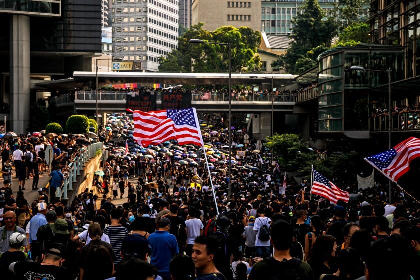 Pro-democracy rally in Hong Kong