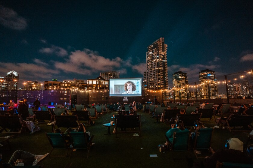 Rooftop Cinema Club offers movie viewing under the stars.