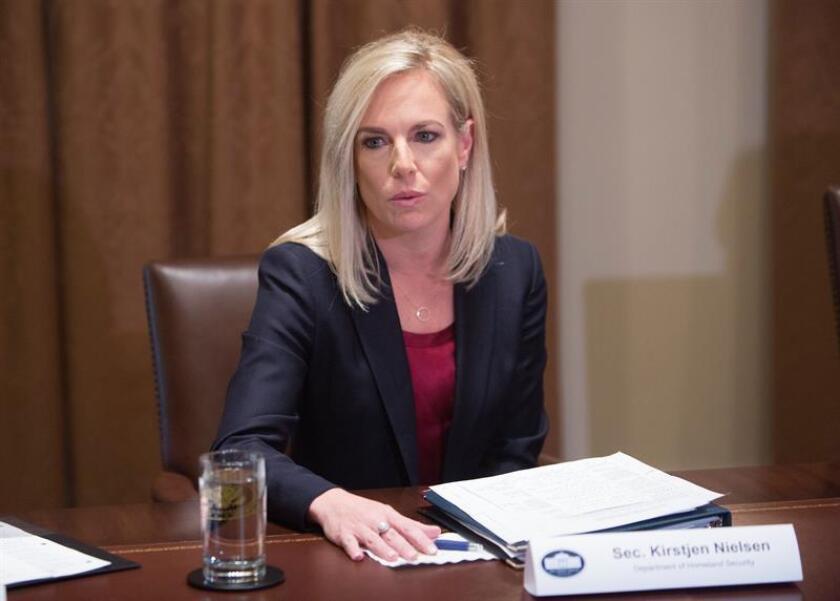 """La secretaria de Seguridad Nacional de Estados Unidos, Kirstjen Nielsen, realizará una visita de trabajo a México los días 26 y 27 de marzo, para tratar temas """"clave"""" de la agenda bilateral, entre ellos migración y seguridad. EFE/ARCHIVO/POOL"""