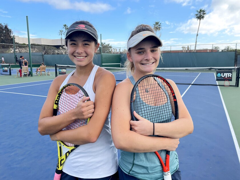 Mika Ikemori, left, and Sarah MacCallum have been teaming up to work with an organization called Second Serve.