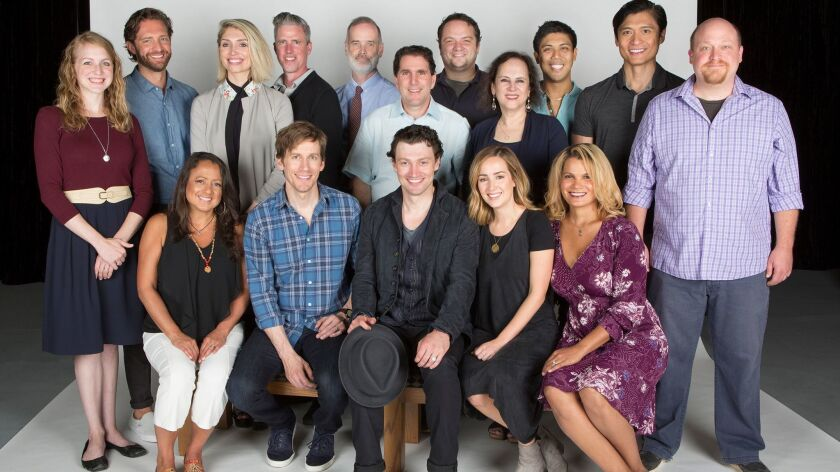 "The cast and creative team of the Old Globe's ""Benny & Joon."""