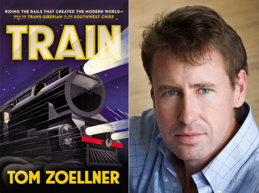 """The cover of """"Train"""" and author Tom Zoellner."""