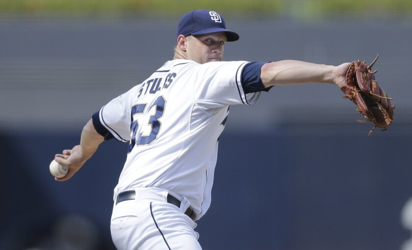 Eric Stults' woes continued against the Giants on Thursday, when he allowed seven earned runs on nine hits in 4 2/3 innings.