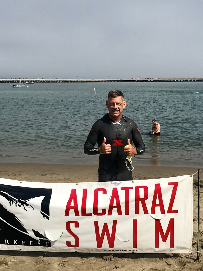 La Crescenta resident braves swim from Alcatraz to raise money for cancer patients