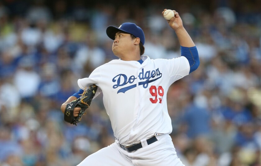 Dodgers left-hander Hyun-Jin Ryu hasn't pitched in a regular season game since Sept. 12 against the Giants, in which he lasted just one inning, giving up four earned runs on five hits.