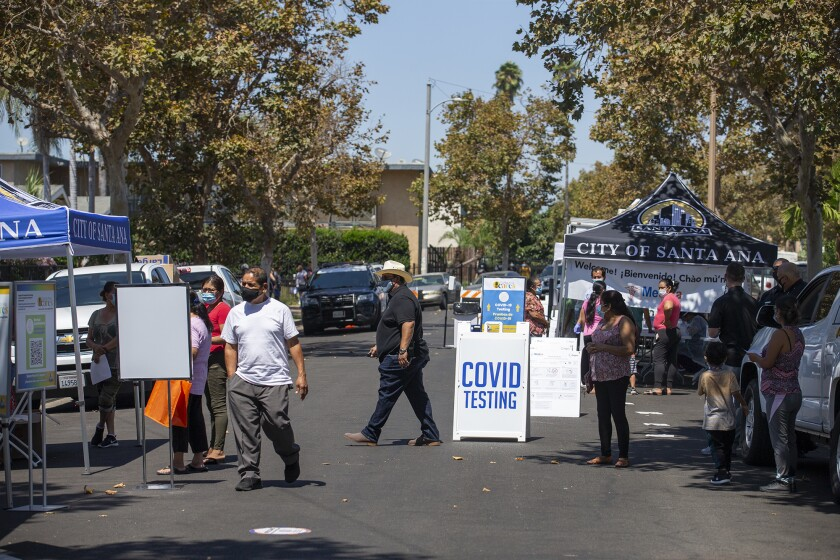 Santa Ana Will Provide Mobile Covid 19 Testing For Most Affected Neighborhoods Los Angeles Times