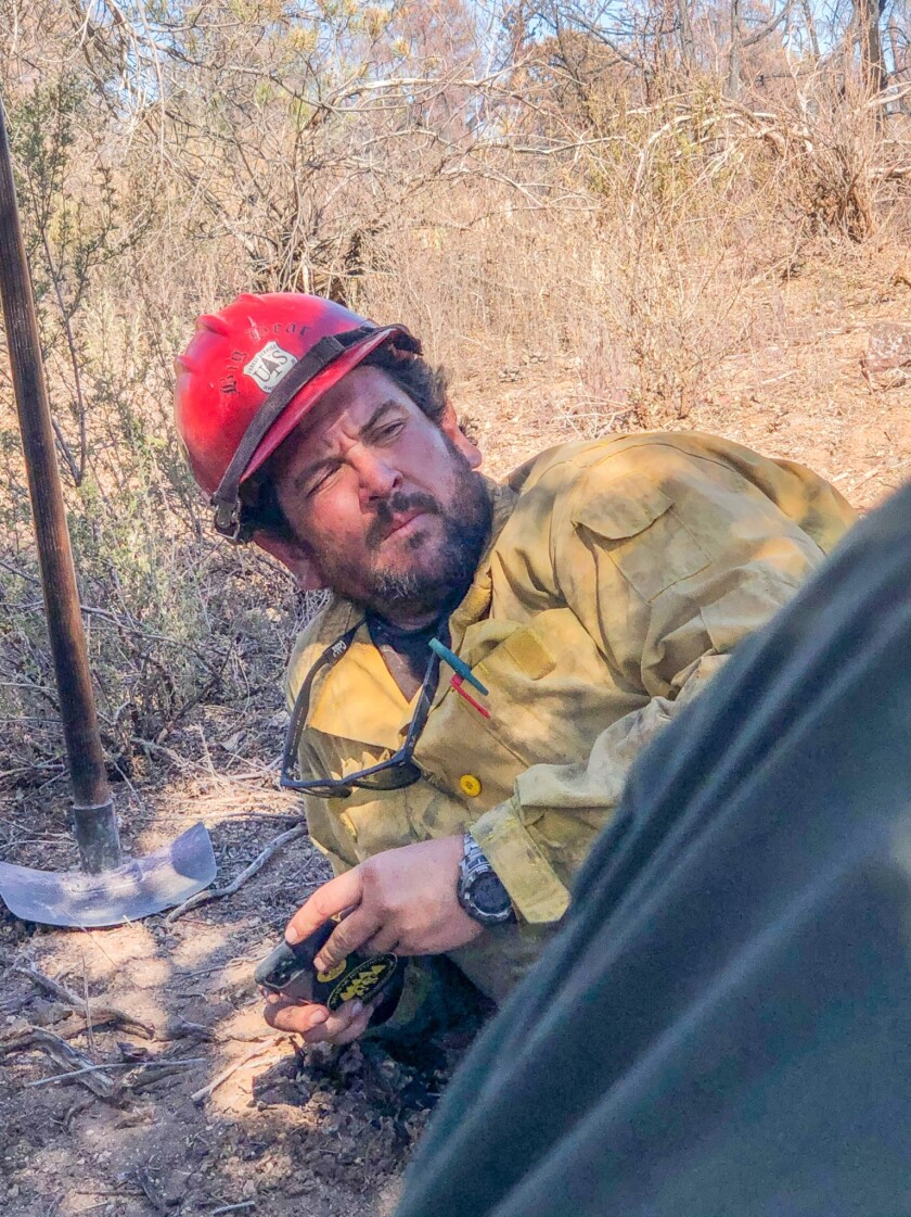 Charles Morton died while engaged in fire suppression operations on the El Dorado fire on Sept. 17.