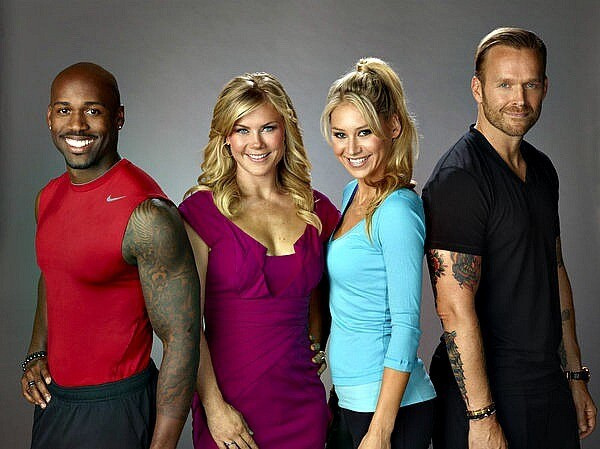 """Season 12's contestants have stepped on the """"Biggest Loser"""" scale for the last time, with winner John Rhode taking home the big prize after shedding a whopping 220 pounds. Click ahead to see pictures of the contestants before and after their transformations. Of course, none of it would have been possible without the help of Dolvett Quince, from left, Alison Sweeney, Anna Kournikova and Bob Harper."""