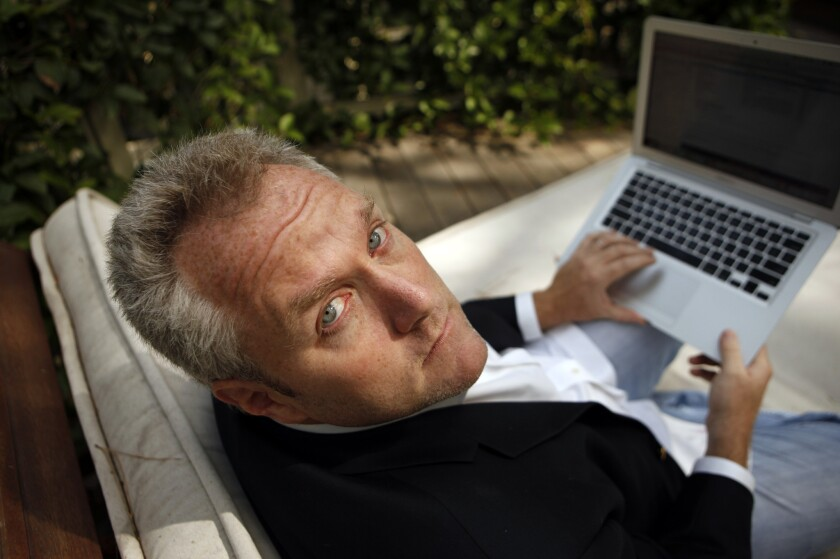 Andrew Breitbart, the Los Angeles new media entrepreneur, at his Los Angeles home in 2010.