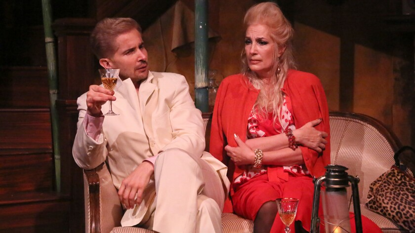 """Lot (Daniel Felix de Weldon) and his wife, Myrtle (Susan Priver), in """"Kindom of Earth"""" at the Odyssey."""