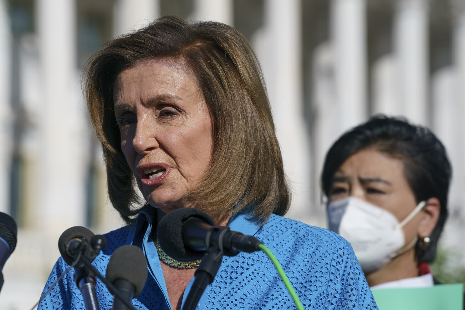 Pelosi vows to pass infrastructure bill, eyes smaller social bill - Los  Angeles Times