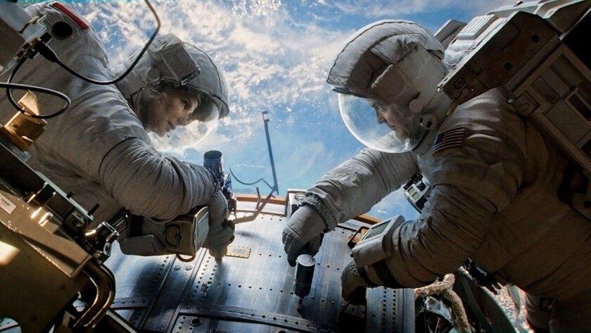 """Gravity,"" starring Sandra Bullock and George Clooney"