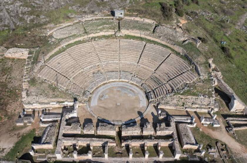 The Theater at Philippi, Greece.