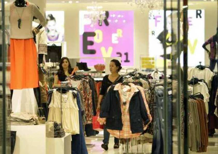 The Forever 21 store at Santa Monica Place is not on the list of locations considered for potential closing.