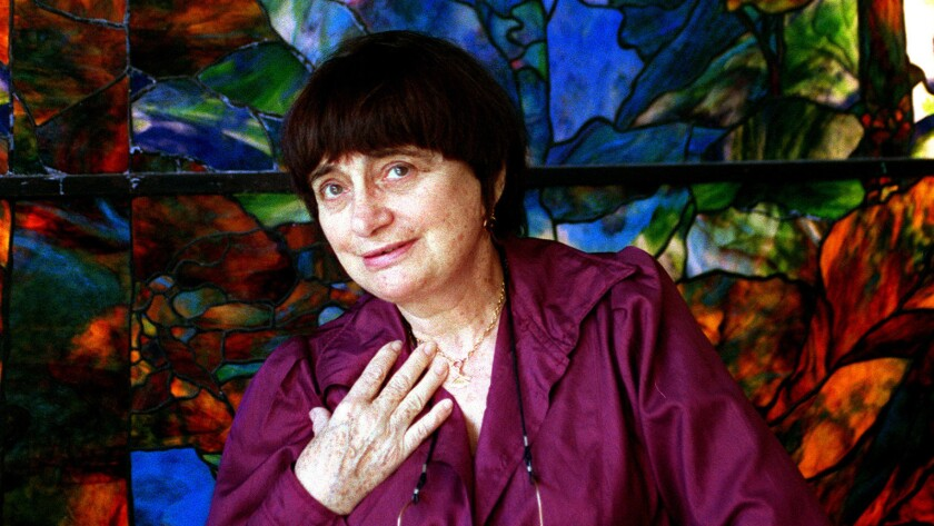 Filmmaker Agnès Varda, photographed in 2002, will appear Oct. 12 at the Egyptian Theatre for double feature of her films.