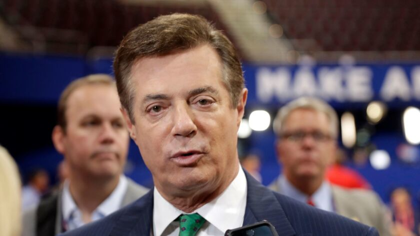 """Paul Manafort, President Trump's former campaign manager, had """"secretly worked"""" for Russian billionaire Oleg Deripaska to advance Russian interests, according to an Associated Press report."""