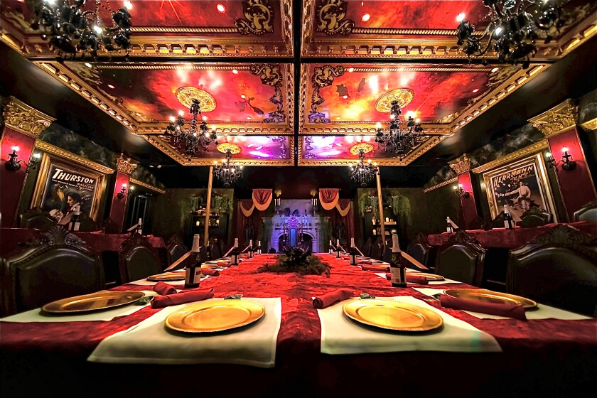 The Grand Dining Chamber is one of the two rooms at Mystique Dining, coming to 915 Pearl St. in La Jolla.