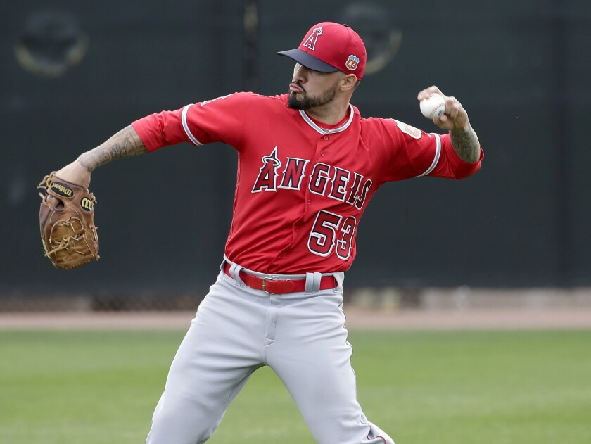 Angels' Hector Santiago is making changes as he competes to be in rotation