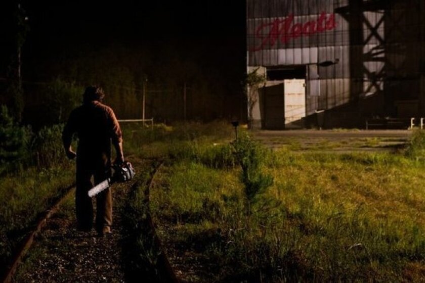 """A scene from """"Texas Chainsaw 3D,"""" which was the No. 1 film at the box office this weekend."""