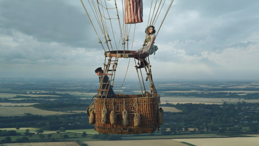 "Eddie Redmayne and Felicity Jones in ""The Aeronauts."""