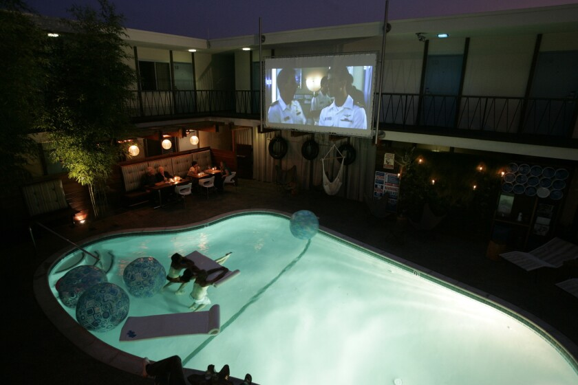 Pull up a raft and dive in during the Pearl's Dive-In movie night.
