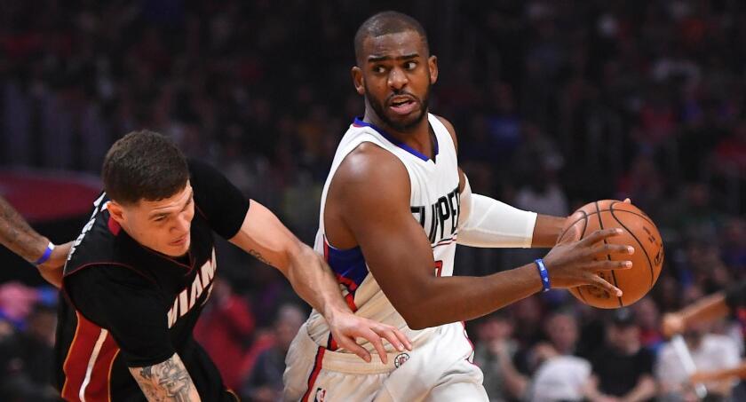 Chris Paul hace historia y los Clippers vencen al Heat de Miami en Staples Center.