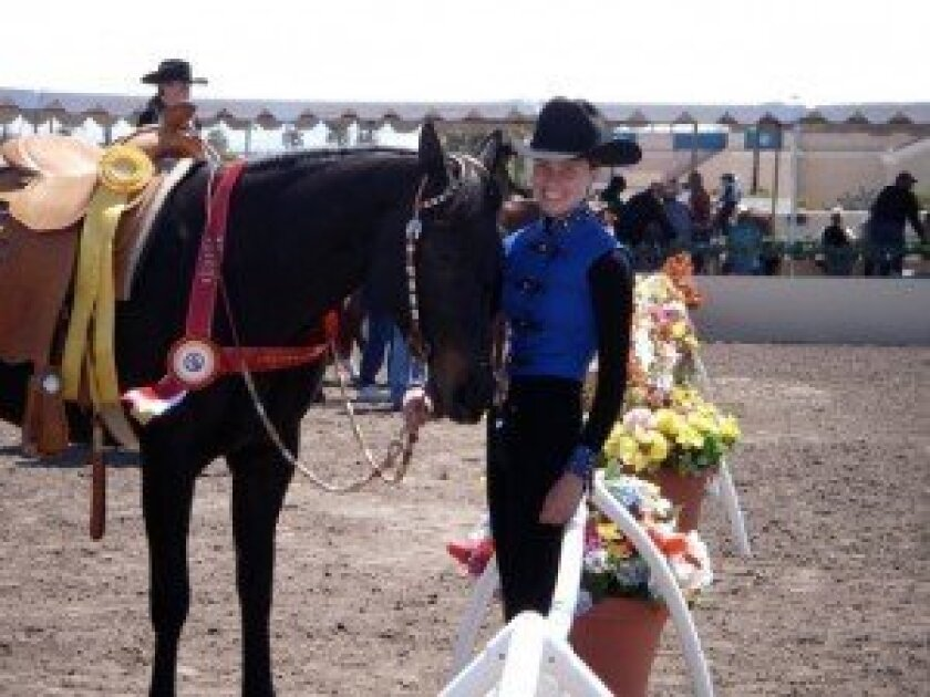 Susan Union's daughter, Erika, and Chickawa Rose at the Del Mar National Horse Show. Courtesy photo