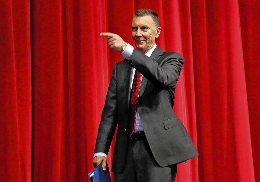 Supt. John Deasy praised growth in graduation rates and expressed relief at budget increases that have begun to reverse several years of deep cuts.