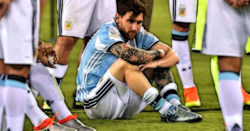 Lionel Messi... reflejo de la actualidad del seleccionado argentino.