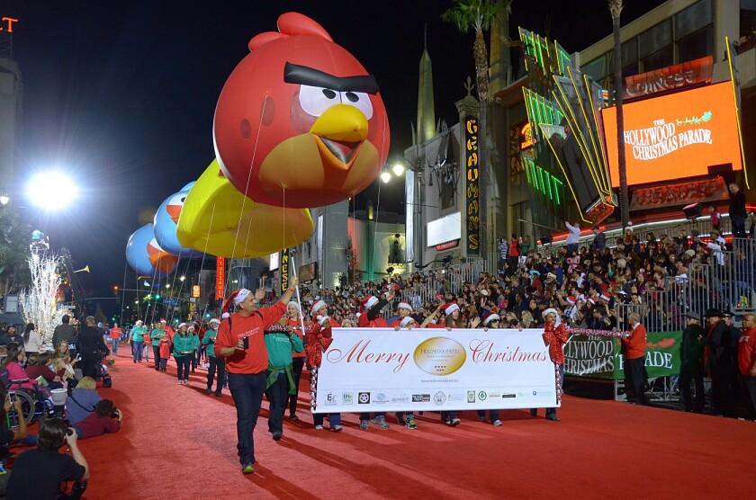 Hollywood Christmas Parade.Guests At This Hotel March In The Hollywood Christmas Parade