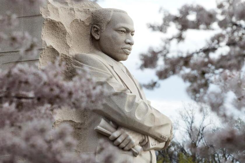 Vista del Monumento Conmemorativo Nacional de Martin Luther King, Jr. en Washington, Estado Unidos, hoy, 4 de abril de 2018. EFE