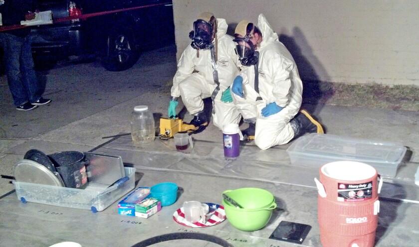Alleged methamphetamine lab in Huntington Park