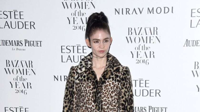 Grimes last month in London.